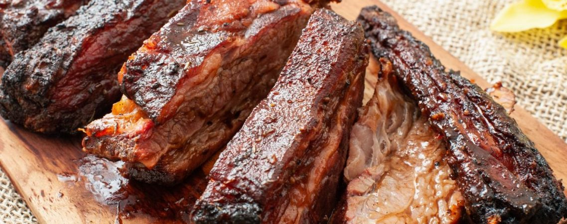 Slow Grilled Beef Ribs