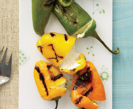 Cheese Stuffed Grilled Peppers