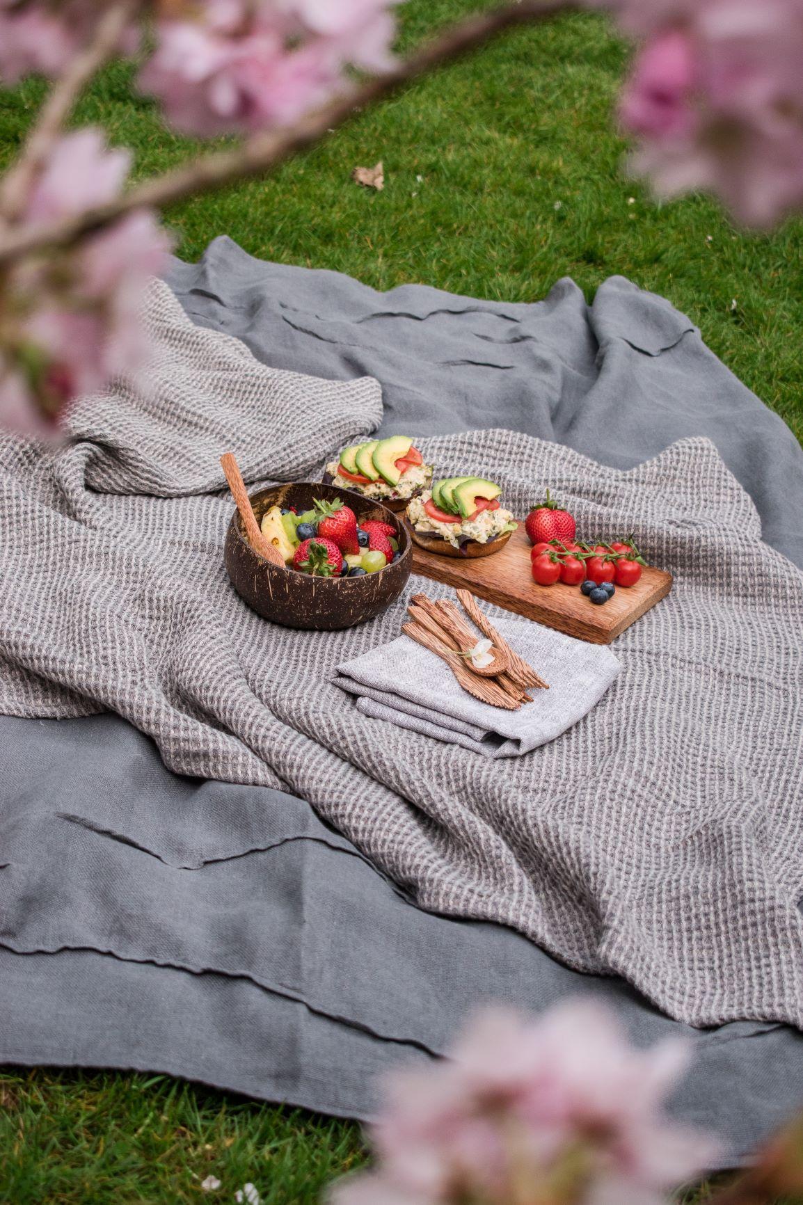 Food on a warm blanket