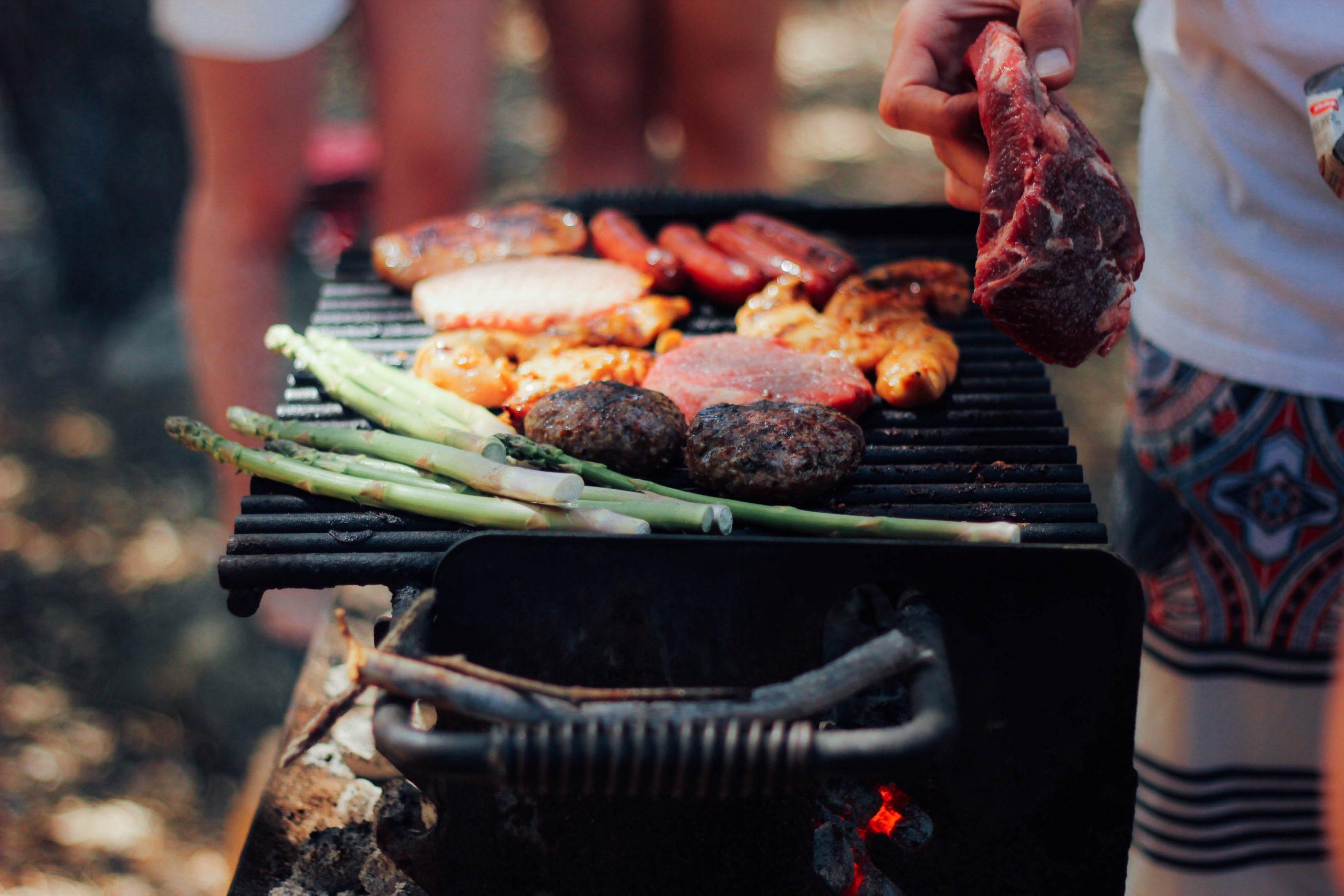A barbecue on a beach
