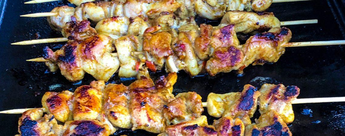 Lemon Marinated Chicken Skewers