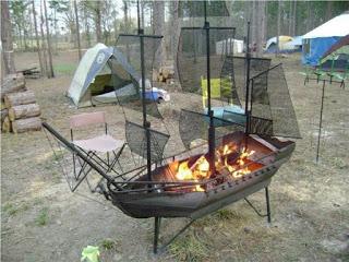 a pirate ship barbecue