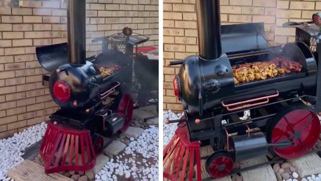 steam engine bbq