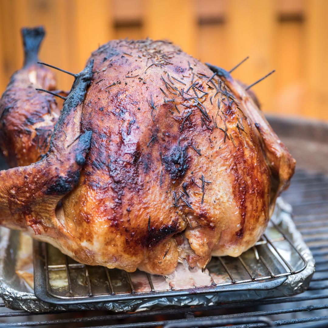 barbecued turkey thigh